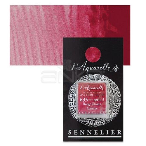 Sennelier Artist Tam Tablet Sulu Boya Yedek Seri 3 No:635 Carmine - 635 Carmine