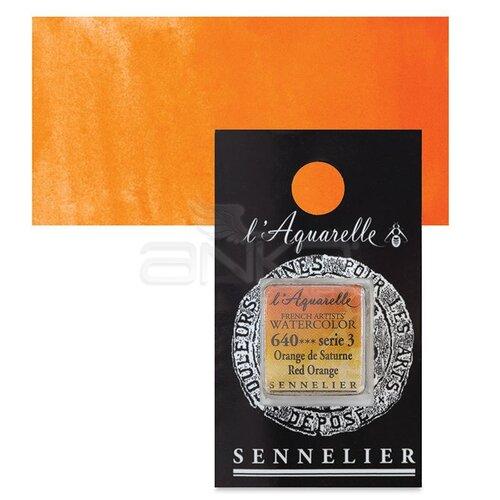 Sennelier Artist Tam Tablet Sulu Boya Yedek Seri 3 No:640 Red Orange - 640 Red Orange