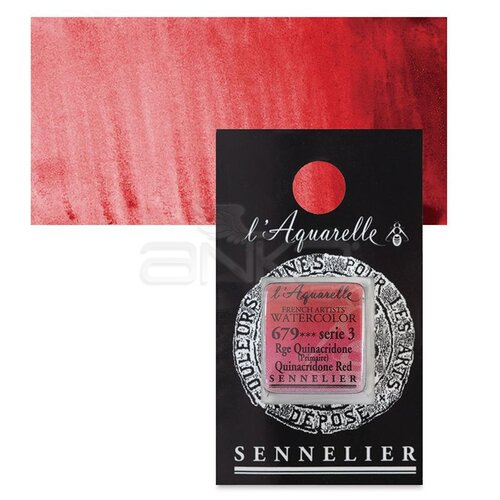 Sennelier Artist Tam Tablet Sulu Boya Yedek Seri 3 No:679 Quinacridone Red - 679 Quinacridone Red