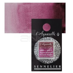 Sennelier - Sennelier Artist Tam Tablet Sulu Boya Yedek Seri 3 No:680 Perm Magenta