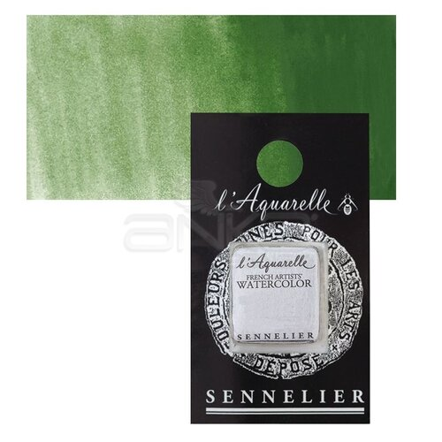 Sennelier Artist Tam Tablet Sulu Boya Yedek Seri 3 No:815 Cromium Oxide Green - 815 Cromium Oxide Green