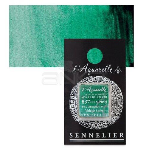 Sennelier Artist Tam Tablet Sulu Boya Yedek Seri 3 No:837 Viridian Green - 837 Viridian Green