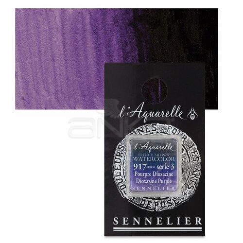 Sennelier Artist Tam Tablet Sulu Boya Yedek Seri 3 No:917 Dioxazine Purple - 917 Dioxazine Purple