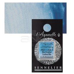 Sennelier - Sennelier Artist Tam Tablet Sulu Boya Yedek Seri 4 No:302 Cerulean Blue