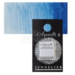 Sennelier - Sennelier Artist Tam Tablet Sulu Boya Yedek Seri 4 No:305 Cerulean Blue Red Shade