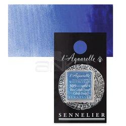 Sennelier - Sennelier Artist Tam Tablet Sulu Boya Yedek Seri 4 No:309 Cobalt Deep