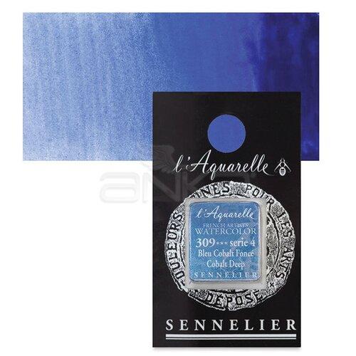 Sennelier Artist Tam Tablet Sulu Boya Yedek Seri 4 No:309 Cobalt Deep - 309 Cobalt Deep
