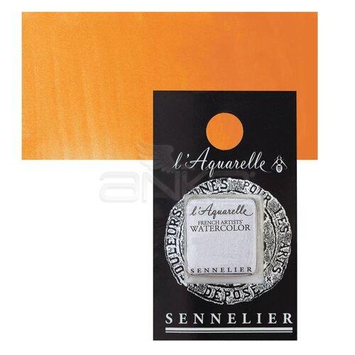 Sennelier Artist Tam Tablet Sulu Boya Yedek Seri 4 No:537 Cadmium Yellow Orange - 537 Cadmium Yellow Orange
