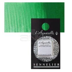 Sennelier - Sennelier Artist Tam Tablet Sulu Boya Yedek Seri 4 No:823 Cadmium Green Light