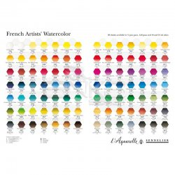 Sennelier - Sennelier Artists Watercolor Set Laquarelle French 24 Renk - Yarım N131606 (1)