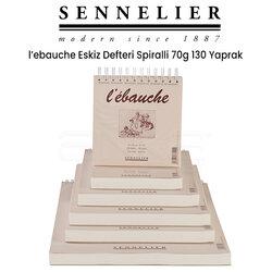 Sennelier - Sennelier LEbauche Eskiz Defteri Spiralli 70g 130 Yaprak