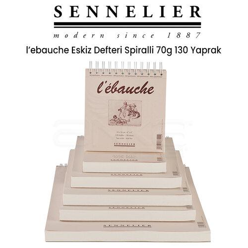 Sennelier LEbauche Eskiz Defteri Spiralli 70g 130 Yaprak