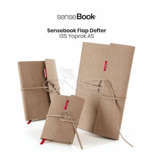 Transotype Sensebook Flap Defter 135 Yaprak A5