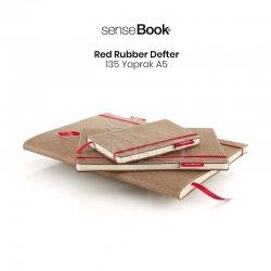 Sensebook - Transotype Sensebook Red Rubber Defter 135 Yaprak A5