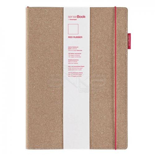 Transotype Sensebook Red Rubber Defter 135 Yaprak A6