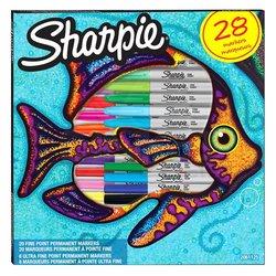 Sharpie Fine Permanent Marker 28li Karışık Kutu Balık - Thumbnail
