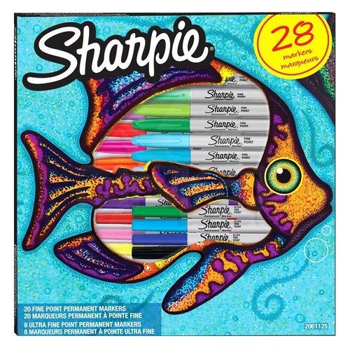Sharpie Fine Permanent Marker 28li Karışık Kutu Balık