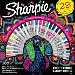 Sharpie - Sharpie Fine Permanent Marker 28li Tavuskuşu