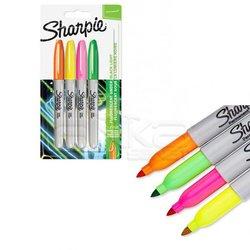 Sharpie - Sharpie Fine Point Marker Kalem 4lü Set Neon Renkler (1)