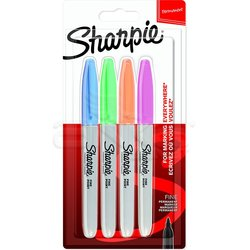 Sharpie - Sharpie Fine Point Marker Kalem 4lü Set Pastel Renkler