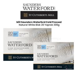 St Cuthberts - Saunders Waterford Cold Pressed Natural White Blok 20 Yaprak 300g