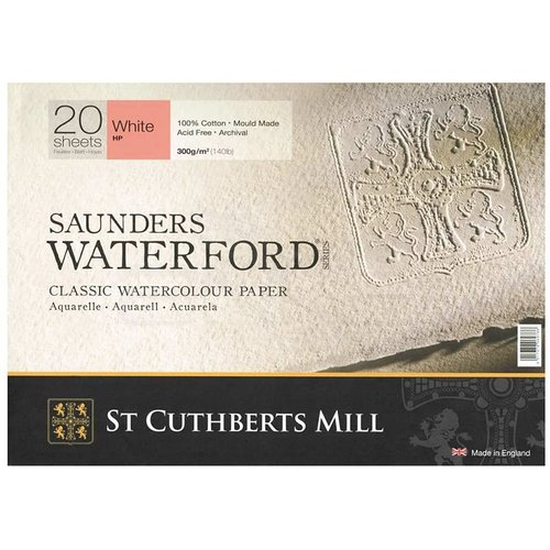 Saunders Waterford Hot Pressed Natural White Blok 20 Yaprak 300g