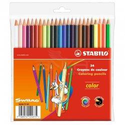 Stabilo - Stabilo Color Kuru Boya 24 Renk Askılı Paket (1224/77-01)