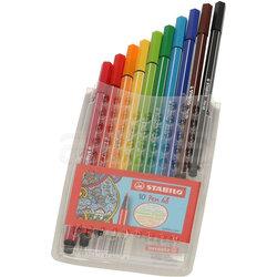 Stabilo - Stabilo Pen 68 Keçe Uçlu Kalem 10lu Set (1)