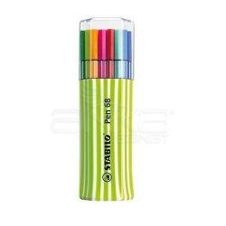 Stabilo - Stabilo Pen 68 Keçe Uçlu Kalem 15li Yeşil Kutu