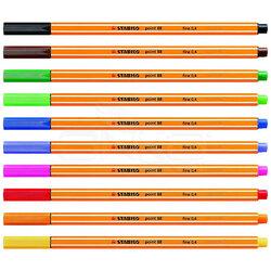 Stabilo - Stabilo Point 88 İnce Keçe Uçlu Kalem 10lu Askılı Set (1)