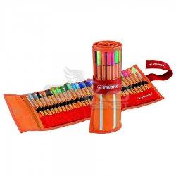 Stabilo - Stabilo Point 88 İnce Keçe Uçlu Kalem 25+5 Floresan Renk Rulo Çantalı Set