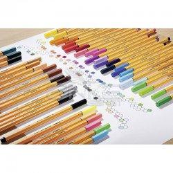 Stabilo - Stabilo Point 88 İnce Keçe Uçlu Kalem 25+5 Floresan Renk Rulo Çantalı Set (1)