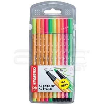 Stabilo Point 88 + Pen 68 Neon 10lu Paket
