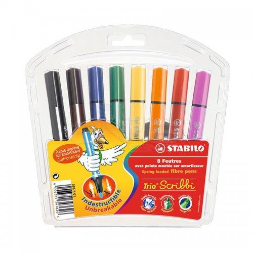 Stabilo Scribbi Yaylı Keçeli Boya Takımı 8 Renk