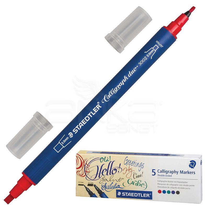 Staedtler - Staedtler Çift Taraflı Kaligrafi Kalemi 5li 2mm-3.5mm 3002 C5 (1)