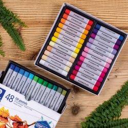 Staedtler - Staedtler Karat Yağlı Pastel Boya 48li Set (1)