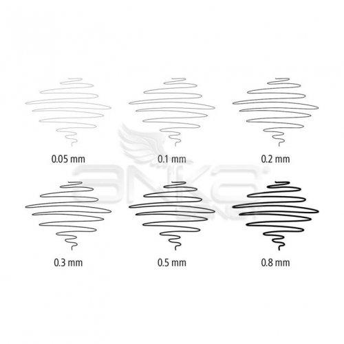 Staedtler Pigment Liner Siyah Çizim Kalemi 4+2 Set