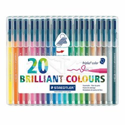 Staedtler Triplus Color Keçe Uçlu Kalem 1.0mm 20li Set - Thumbnail