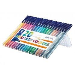 Staedtler - Staedtler Triplus Color Keçe Uçlu Kalem 1.0mm 20li Set (1)