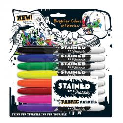Sharpie - Stained By Sharpie Fabric Markers Textil Kalem Seti (1)