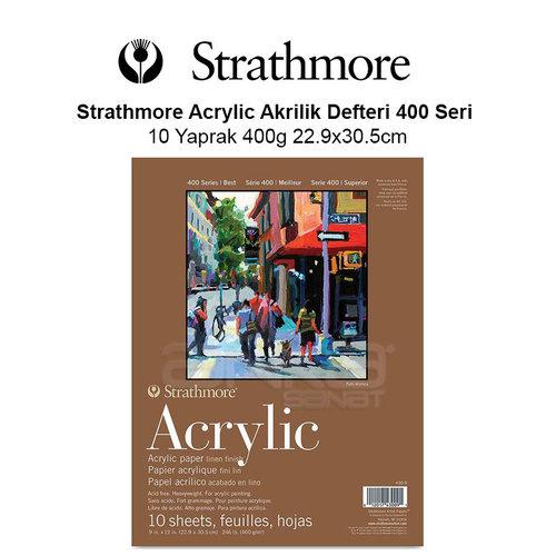 Strathmore Acrylic Akrilik Defteri 400 Seri 10 Yaprak 400g 22.9x30.5cm