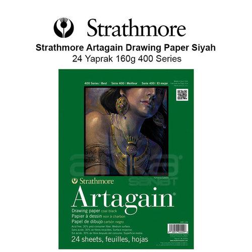 Strathmore Artagain Drawing Paper Siyah 24 Yaprak 160g 400 Series