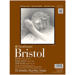 Strathmore - Strathmore Bristol Blok 15 Yaprak 180g 300 Seri 27.9x35.6cm (1)