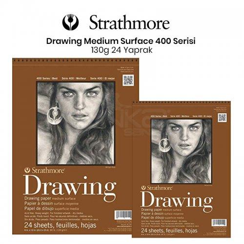 Strathmore Drawing Medium Surface 24 Yaprak 130g 400 Series
