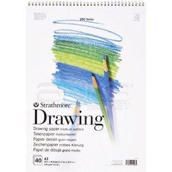 Strathmore - Strathmore Drawing Spiralli Blok 40 Yaprak 104g Seri 200 (1)