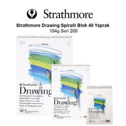 Strathmore - Strathmore Drawing Spiralli Blok 40 Yaprak 104g Seri 200