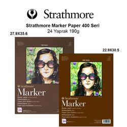 Strathmore - Strathmore Marker Paper 400 Seri 24 Yaprak 190g