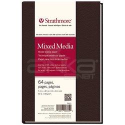 Strathmore - Strathmore Mixed Media Sert Kapak 500 Seri 190g 64 Sayfa 14x21.6cm (1)