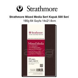 Strathmore Mixed Media Sert Kapak 500 Seri 190g 64 Sayfa 14x21.6cm - Thumbnail