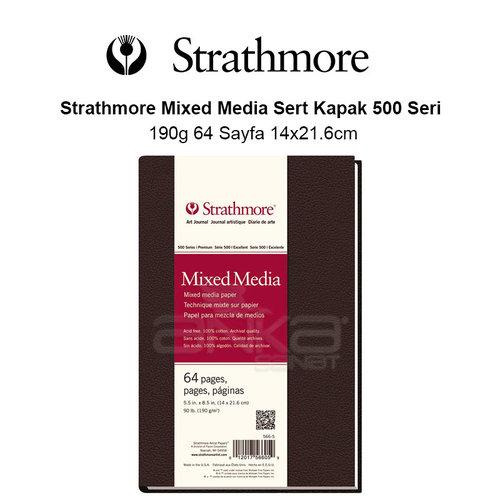 Strathmore Mixed Media Sert Kapak 500 Seri 190g 64 Sayfa 14x21.6cm